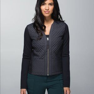Lululemon Cardigan and Again Quilted Jacket Black